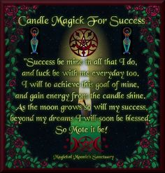 Candle Magick For Success (Great for the New Moon)