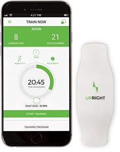 Fitness Trackers  Upright  Smart Wearable Posture Trainer with Free IOS and Android App * This is an Amazon Associate's Pin. Clicking on the VISIT button will lead you to find the item on Amazon website.