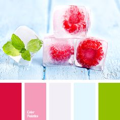 Bright green colour contrasts perfectly with rich raspberry. This palette is perfect for decoration of a young girls room. House Color Schemes, Colour Schemes, Color Combos, Color Harmony, Color Balance, Mint Color, Color Rosa, Raspberry Color, Colour Pallette