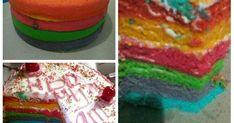 Resep Rainbow kukus santan favorit. Ceritanya ada saudara yg pingin bikinin suaminya kue ultah sg simpel tp kelihatan cantik,akhirnya iseng2 bikin rainbow ajah Hehehee...