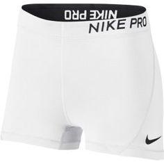 "Nike Frauen Pro 3 ""Short-grau-l Cute Lazy Outfits, Sporty Outfits, Nike Outfits, Athletic Outfits, Nike Spandex Shorts, Nike Pro Shorts, Jogger Shorts, White Nike Shorts, White Nikes"