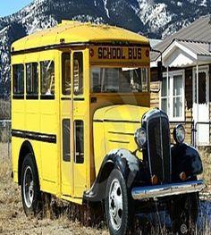 Olden Days Little School Bus