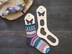 Wooden sock blockers / Butterfly