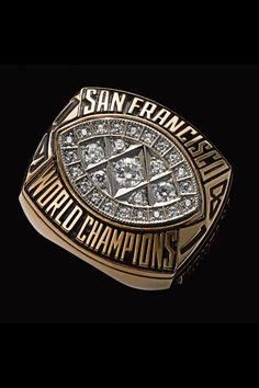 San Francisco Super Bowl XVI World Championship ring. They defeated the Bengals for their first title. 49ers Players, 49ers Fans, Nfl Fans, Star Citizen, Nfl Championship Rings, 49ers Super Bowl, All Nfl Teams, Super Bowl Rings, Ring Of Honor