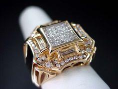 http://rubies.work/0390-sapphire-ring/ 14K Pink/Rose gold Men's Diamond Ring
