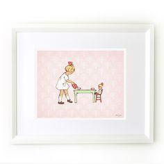 """Addie's Tea Party"" print by Sarah Jane"