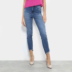 9c8d56cdb Calça Jeans Cigarrete Colcci Kim Cintura Média Feminina - Azul - Compre  Agora | Zattini Valido
