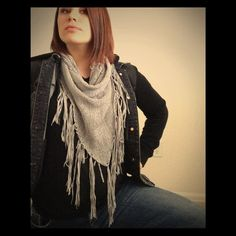 Infinity fringe scarf Light grey in color.  Goes with everything! Lightweight. Maurices Accessories Scarves & Wraps