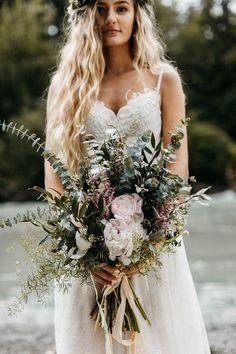 chic greenery moody wedding bouquet ideas #weddingflowers #weddingbouquets #weddingideas