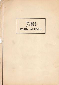 730 Park Avenue Brochure (For Michael Van Oosten)