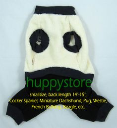 """SMALL SIZE PET DOG WEAR COMFY WARMY 4-LEGS WINTER COAT CLOTHES APPAREL, BLACK-WHITE, THAILAND    SIZE 6 for  Back Length 14""""-15"""" (35-38 cm)  Chest 23""""-25"""" (58-64 cm)  Cocker Spaniel, Miniature Dachshund, Pug, Westie, French Bulldog, Beagle, etc.  A nice COMFY & WARMY dog coat for winter. Thailand is famous for apparel manufacturing. This collection of dog's winter coat is well designed and specially manufactured for exporting to temperate countries. WORLDWIDE FREE SHIPPING $19.50."""