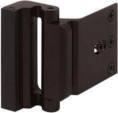 Black Finish Defender Security S 4005 Push-In Sliding Door Keyed Lock