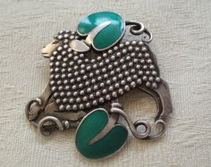 Rare Sterling Silver and Enamel Georg Jensen Lamb Brooch, Pin, Vintage | eBay