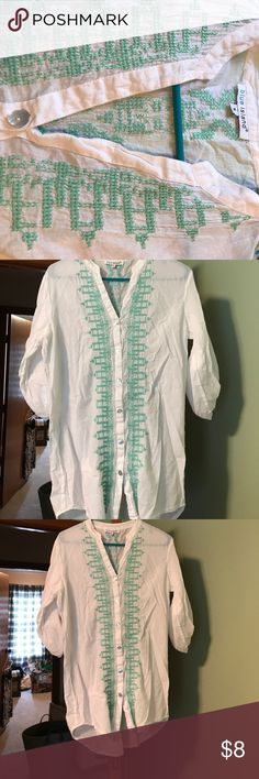 Swim cover up Swim suit cover up, worn once! Smoke free home! No stains or snags! Swim Coverups