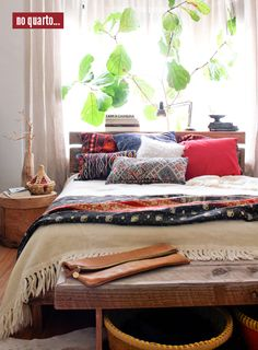 This is essentially my bedroom... I just need the seating at the end of the bed and the plant!