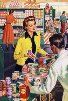 Everyone knows I despise grocery shopping, wish I could feel like this lady looks in the picture. :)