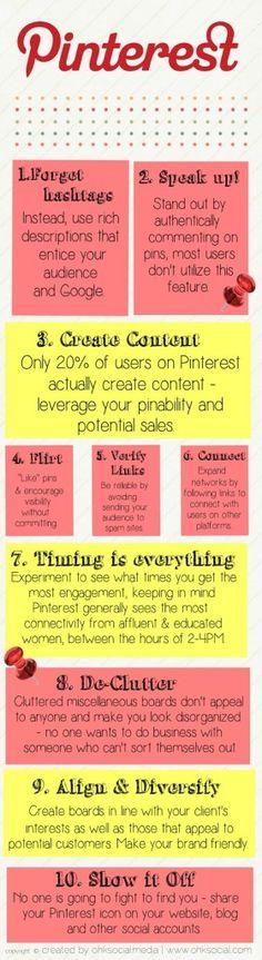 Deze infographic laat je zien hoe je Pinterest zakelijk kunt gebruiken.  How to use Pinterest for business purposes.