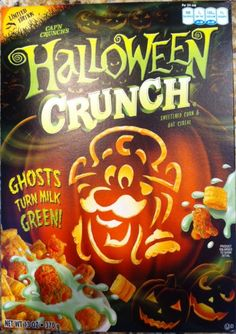 The Cap'n has appeared as a mummy, werewolf and a jack o'lantern over the years on boxes of Halloween Crunch.