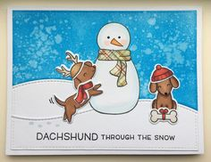 Hello again my friends, I'm so glad you had a chance to drop by.    Here is the second card I made using the Happy Howlidays stamp and die ...