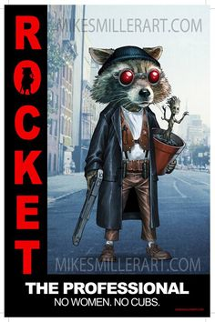 Il mashup del giorno: Rocket Leon, di Mike S.Miller. xombiedirge:  Rocket: The Professional by Mike S. Miller