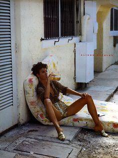 Linda Evangelista by Steven Meisel for Vogue Italia, February 1989