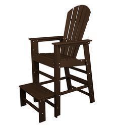 Polywood SBL30MA South Beach Lifeguard Chair in Mahogany