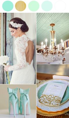 Mint Wedding Ideas   Vintage Inspired http://www.theperfectpalette.com/2014/04/mint-wedding-ideas-vintage-inspired.html