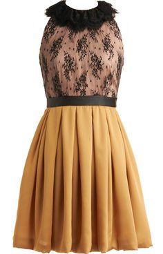 Scalloped collar lace dress