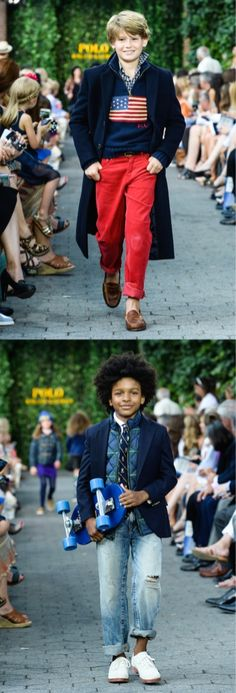 Shop the boy\u0026#39;s looks straight from the Fall 2015 Ralph Lauren Kid\u0026#39;s Runway: All American