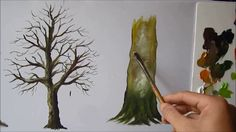 How to paint a tree trunk lesson 3 tree trunk painting, tree trunk drawing, Watercolor Painting Techniques, Acrylic Painting Tutorials, Painting Videos, Painting Lessons, Painting & Drawing, Watercolor Paintings, Tree Trunk Drawing, Tree Trunk Painting, Painted Trunk