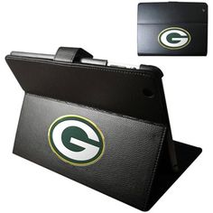Green Bay Packers Leather iPad Case - Black
