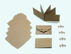 Briefumschläge Karten Mini Kraftpapier DIY von iLike_wuuschl aus Berlin auf DaWanda.com