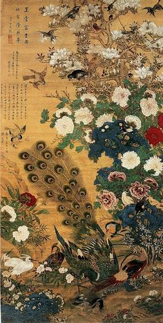Peacock Japanese print