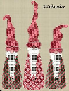 Stickeules Freebies: Christmas. Free needlepoint patterns. If you don't speak…