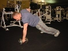 This is one of my favorite moves!. Plank with a row!  Awesome