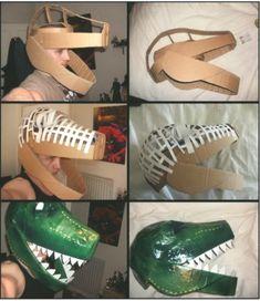 Dinosaur Costumes and DIY Ideas - Mask Making - Face Mask - Masquerade Mask - Mask Homemade Dinosaur Halloween Costume, Diy Halloween Costumes For Kids, Diy Costumes, Siding Colors, Kids Costumes Boys, Diy Mask, Homemade, Maskerade, Cut Paper