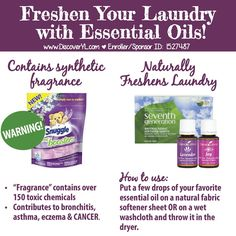 Young Living Essential Oils: Fabric Softener Laundry