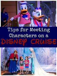 Tips for Meeting Characters on a Disney Cruise http://www.sarahinthesuburbs.com/tips-meeting-characters-disney-cruise/