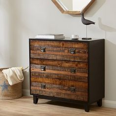 Byron Chattered Wood Accent Chest
