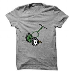 I Love Cartoon Push Reel Lawn Mower T-Shirts