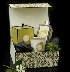 Abahna's bathfoam and candle gift set come in several scents. Abahna products are crafted in England in small batches by expert blenders using organics and natural actives sourced from round the world for their known healing and skin softening properties.
