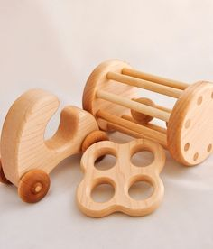 Little wooden shapes for the littlest of hands