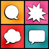 Conjunto de bolhas do discurso no estilo pop art — Vetor de Stock