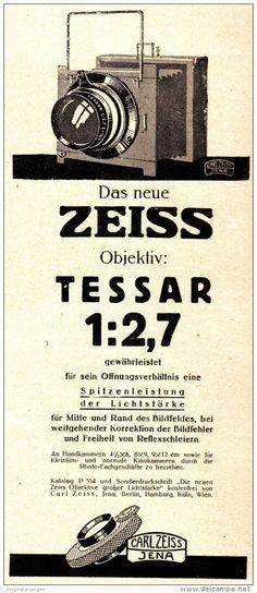 Original-Werbung/ Anzeige 1925 - ZEISS TESSAR / CARL ZEISS JENA  - ca. 80 x 200 mm