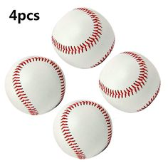 "Practice Baseballs, Smartlife15 Reduced Impact Safety Baseballs, Standard 9"" Adult Youth Leather Covered Soft Balls for Team Game Competition Pitching Catching Training, 4Pack (Rubber Center(White)). √STANDARD OFFICIAL SIZE: Practice Baseball's Circumference: 9 inch, weight: 5 oz, and stitches:108, which can provide adult and youth lovers effective training. √LOW IMPACT CONSTRUCTION: High-quality PVC leather cover and cork filling, providing certain softness and comfortable touch feeling...."