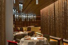 The Alpina, Gstaad restaurant lighting by Lighting Design International.