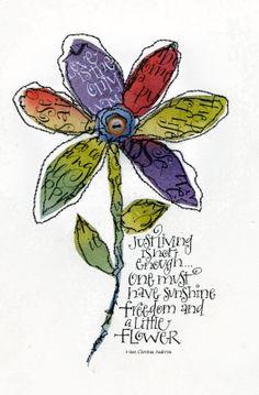 Art du Jour by Martha Lever: Paper Scrap Flower