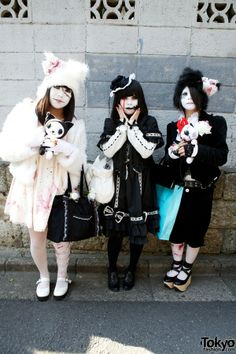"Japanese Shironuri ""White Face Monster Party"" in #Harajuku – Pics & Video"