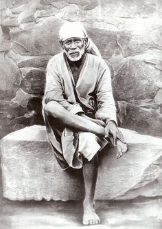 My favorite picture of Shirdi Sai Baba who was Swami Kaleshwar's Master.  This is a copy of the one that hangs in the Kaleshwar Dwarkamai in Penukonda.