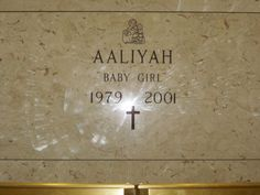 Grave Marker- Aaliyah, singer, at Ferncliff Cemetery, NY